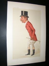 Vanity Fair Print 1884 Capt. Arthur Smith, Fox Hunter